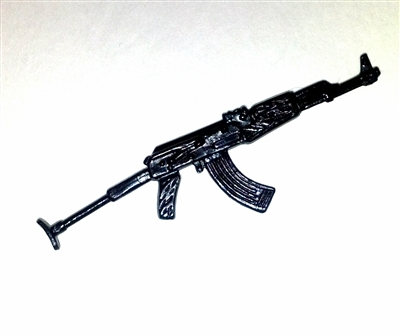 AK-47 Assault Rifle with Folding stock - 1:18 Scale Weapon for 3 3/4 Inch Action Figures