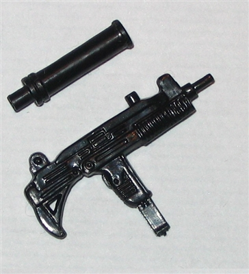 UZI Sub-Machine Gun with Silencer - 1:18 Scale Weapon for 3 3/4 Inch Action Figures