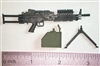 "MK-46 SAW Machine Gun with Ammo Case & Bipod Black Version - ""Modular"" 1:12 Scale Weapon for 6 Inch Action Figures"