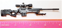 "MK13 Sniper Rifle with Scope, Bipod & Ammo Mag BLACK Version - ""Modular"" 1:12 Scale Weapon for 6 Inch Action Figures"