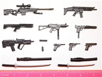 Marauder 1:12th Scale Series #2 : Complete Set (Weapons & Weapon Accessories) - 1:12 Scale Weapons for 6 Inch Action Figures