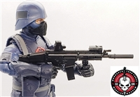 "DELUXE SOCOM Assault Rifle w/ Mag BLACK Version WITH Accessories - ""Modular"" 1:12 Scale Weapon for 6 Inch Action Figures"