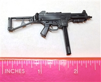 "CQB-MKII Machine Gun w/ Ammo Mag BLACK Version BASIC - ""Modular"" 1:12 Scale Weapon for 6 Inch Action Figures"