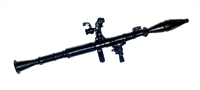 RPG Launcher (Rocket Propelled Grenade) BLACK Version - 1:18 Scale Weapon for 3 3/4 Inch Action Figures