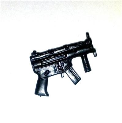 "SWAT-K ""Mini"" Submachine Gun BLACK Version - 1:18 Scale Weapon for 3 3/4 Inch Action Figures"