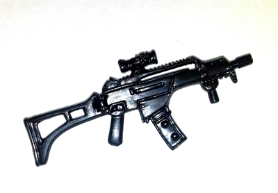 COMMANDO Assault Rifle with Scope BLACK Version - 1:18 Scale Weapon for 3 3/4 Inch Action Figures