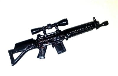 SIG550 Assault Rifle BLACK Version - 1:18 Scale Weapon for 3 3/4 Inch Action Figures