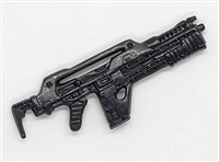 NCM Mark I Pulse Rifle BLACK Version - 1:18 Scale Weapon for 3-3/4 Inch Action Figures