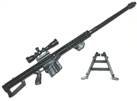 50 Caliber Sniper Rifle w/ Bipod - 1:18 Scale Weapons for 3-3/4 Inch Action Figures