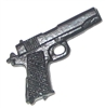 M1911a1 45 Caliber Automatic Pistol BLACK Version - 1:18 Scale Weapon for 3-3/4 Inch Action Figures