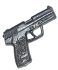 TACTICAL Automatic Pistol BLACK Version - 1:18 Scale Weapon for 3-3/4 Inch Action Figures