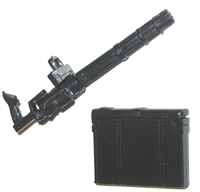 "Gatling ""STANDARD"" Mini-Gun with Ammo Case (1) - 1:18 Scale Weapon for 3-3/4 Inch Action Figures"