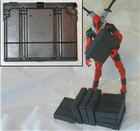 AMMO CASE for Gatling Mini-Gun - 1:18 Scale Weapon for 3-3/4 Inch Action Figures