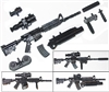 "M4 Carbine Assault Rifle with Accessories BLACK Version DELUXE - ""Modular"" 1:18 Scale Weapon for 3-3/4 Inch Action Figures"