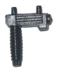 Modular Component: Front Grip with Laser Sight BLACK Version - 1:18 Scale Accessory for 3-3/4 Inch Action Figures