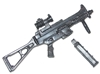CQB Machine Gun with Ammo Magazine - 1:18 Scale Weapon for 3-3/4 Inch Action Figures