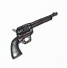 Colt 45 Western Revolver Pistol - 1:18 Scale Weapon for 3-3/4 Inch Action Figures