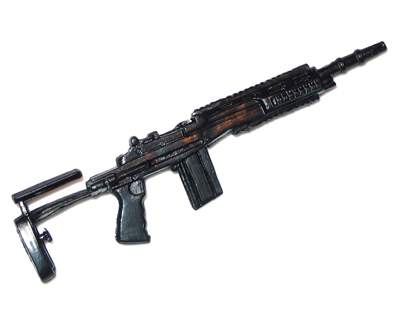 "M14 EBR Assault Rifle w/ Mag BASIC - ""Modular"" 1:18 Scale Weapon for 3-3/4 Inch Action Figures"