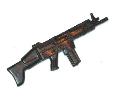 "SCAR-H Assault Rifle w/ Mag BASIC - ""Modular"" 1:18 Scale Weapon for 3-3/4 Inch Action Figures"