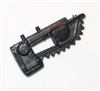 Modular Component: Chainsaw Attachment BLACK Version - 1:18 Scale Accessory for 3-3/4 Inch Action Figures