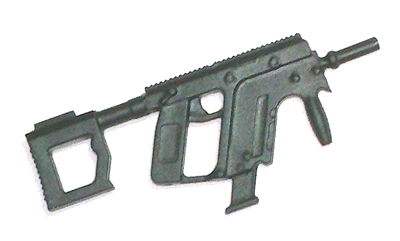 "Vector Machine Gun BLACK Version BASIC - ""Modular"" 1:18 Scale Weapon for 3-3/4 Inch Action Figures"