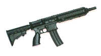 "FOS Assault Rifle w/ Mag BLACK Version BASIC - ""Modular"" 1:18 Scale Weapon for 3-3/4 Inch Action Figures"