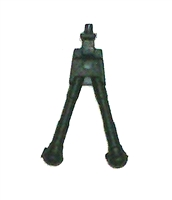 Modular Component: BIPOD BLACK Version - 1:18 Scale Accessory for 3-3/4 Inch Action Figures