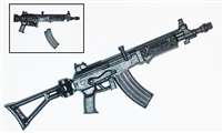 GALIL Assault Rifle with WORKING Stock BLACK Version (1) - 1:18 Scale Weapon for 3-3/4 Inch Action Figures