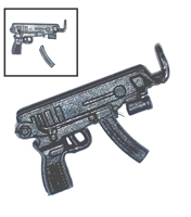 SKORPION Machine Pistol with Mag BLACK Version (1) - 1:18 Scale Weapon for 3-3/4 Inch Action Figures