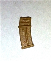 "AMMO MAGAZINE for ""Modular"" Commando Assault Rifles TAN Version - 1:18 Scale Weapon Accessory for 3-3/4 Inch Action Figures"