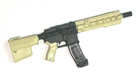 "FO6R Assault Rifle w/ Mag TAN & BLACK Version BASIC - ""Modular"" 1:18 Scale Weapon for 3-3/4 Inch Action Figures"