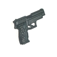 BRAVO Automatic Pistol  BLACK Version - 1:18 Scale Weapon for 3-3/4 Inch Action Figures