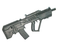 "IDF-T Assault Rifle w/ Mag BLACK Version BASIC - ""Modular"" 1:18 Scale Weapon for 3-3/4 Inch Action Figures"