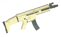 "SOCOM Assault Rifle w/ Mag TAN & BLACK Version BASIC - ""Modular"" 1:18 Scale Weapon for 3-3/4 Inch Action Figures"