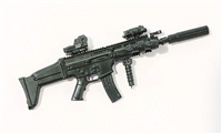 "SOCOM Assault Rifle w/ Mag BLACK Version DELUXE - ""Modular"" 1:18 Scale Weapon for 3-3/4 Inch Action Figures"