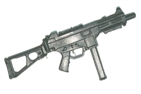 "CQB-MKII Machine Gun w/ Mag BLACK Version BASIC - ""Modular"" 1:18 Scale Weapon for 3-3/4 Inch Action Figures"