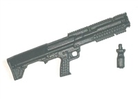 "JW Breacher Shotgun with Grip BLACK Version - ""Modular"" 1:18 Scale Weapon for 3-3/4 Inch Action Figures"