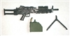 "MK-46 SAW Machine Gun with Ammo Case & Bipod Black Version - ""Modular"" 1:18 Scale Weapon for 3-3/4 Inch Action Figures"