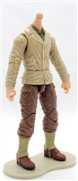 MTF WWII - US ARMY Soldier in Tan/Brown Uniform, LIGHT Skin Tone (WITHOUT Head) - 1:18 Scale Marauder Task Force Action Figure
