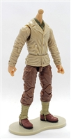 "MTF WWII - US ARMY Soldier in Tan/Brown Uniform ""Japanese American"" LIGHT TAN Skin Tone (WITHOUT Head) - 1:18 Scale Marauder Task Force Action Figure"