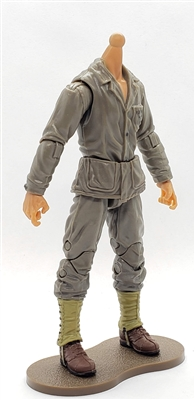 MTF WWII - US MARINE in Green Uniform, TAN Skin Tone Native American Indian (WITHOUT Head) - 1:18 Scale Marauder Task Force Action Figure