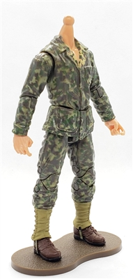 MTF WWII - US MARINE in Camo Uniform, LIGHT Skin Tone (WITHOUT Head) - 1:18 Scale Marauder Task Force Action Figure