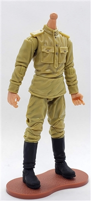 MTF WWII - RUSSIAN Soviet Soldier, LIGHT Skin Tone (WITHOUT Head) - 1:18 Scale Marauder Task Force Action Figure