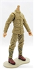 MTF WWII - JAPANESE Soldier, LIGHT TAN Skin Tone (WITHOUT Head) - 1:18 Scale Marauder Task Force Action Figure