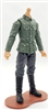 "MTF WWII - GERMAN Soldier ""Early War"" Green Shirt & Gray Pants, LIGHT Skin Tone (WITHOUT Head) - 1:18 Scale Marauder Task Force Action Figure"