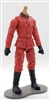 MTF WWII - GERMAN Soldier in RED Uniform, LIGHT Skin Tone (WITHOUT Head) - 1:18 Scale Marauder Task Force Action Figure