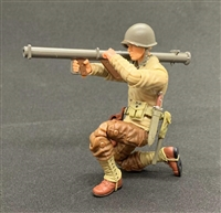 MTF WWII - Deluxe US ARMY BAZOOKA SOLDIER with Gear - 1:18 Scale Marauder Task Force Action Figure