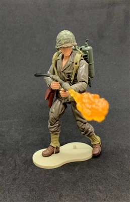 MTF WWII - Deluxe US MARINE FLAMETHROWER SOLDIER with Gear - 1:18 Scale Marauder Task Force Action Figure