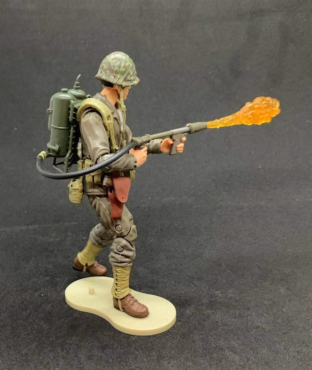 "US MARINE FLAMETHROWER SOLDIER Marauder Task Force Bagged 4/"" Inch Action Figure"