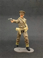 MTF WWII - Deluxe BRITISH ARMY OFFICER with Gear - 1:18 Scale Marauder Task Force Action Figure